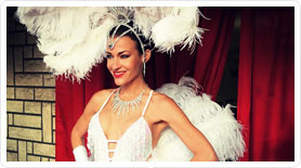 Hotesse show girl soiree casino