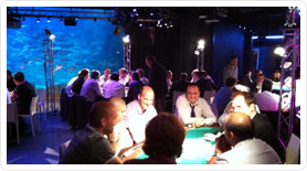 tournoi de poker factice a l'aquarium de Paris