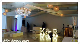 location lettres géantes lumineuses mariage