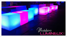 location mobilier lumineux