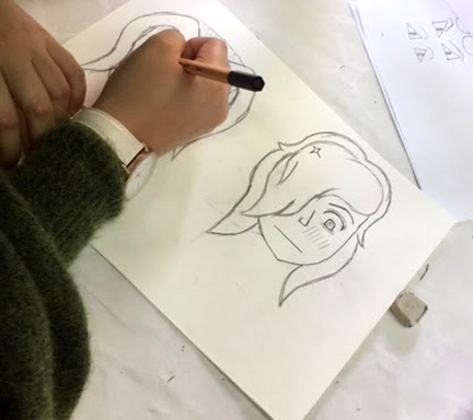 animation manga portrait dessin