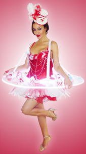 Animation Candy Girl, hotesse plateau led